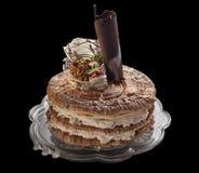 Torta poner crema con crema Fotos de archivo libres de regalías