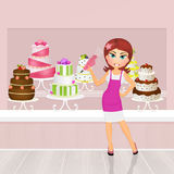 Torta projekt royalty ilustracja
