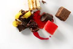 Torta quebrada con sangre del jarabe Imágenes de archivo libres de regalías