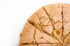 Torta recientemente cocida; izquierdo superior Fotografía de archivo