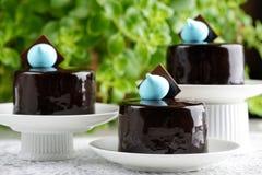 Torta redonda de la sensación del chocolate foto de archivo libre de regalías