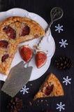 Torta rellena con la almendra y el higo Fotos de archivo libres de regalías