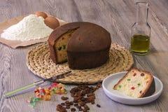 Torta rellena de la pizza Imagen de archivo libre de regalías