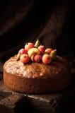 Torta rica hecha en casa de la fruta Fotos de archivo libres de regalías