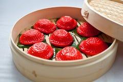 "Torta roja de la tortuga, ¿del ² del œç del ¾ del é del ç…, e-jÄ del  del h-Å del  de PeÌ "", Ang Ku Kueh, Kue Ku Imágenes de archivo libres de regalías"