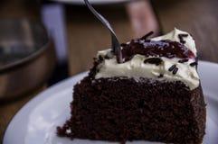 Torta roja del terciopelo Imagenes de archivo