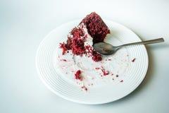 Torta roja del terciopelo Fotos de archivo libres de regalías