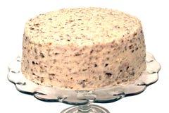 Torta roja del terciopelo aislada Fotos de archivo libres de regalías