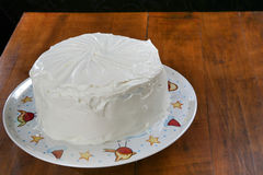 Torta roja del terciopelo de Whol Foto de archivo