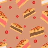 Torta rosa del mirtillo rosso Immagine Stock