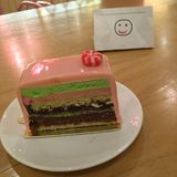Torta rosada Imágenes de archivo libres de regalías