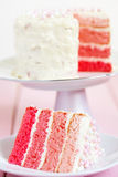 Torta rosada de Ombre Fotografía de archivo libre de regalías