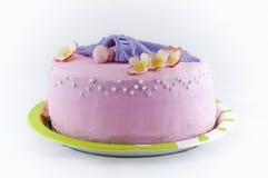 Torta rosada hermosa para el partido de ducha de bebé. Fotos de archivo libres de regalías