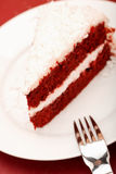 Torta rossa del velluto Immagine Stock Libera da Diritti