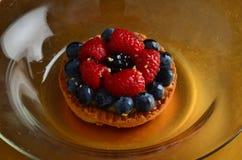 Torta rossa fresca della frutta in primavera immagine stock