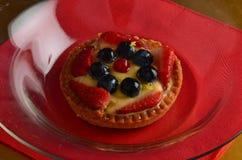 Torta rossa fresca della frutta in primavera immagini stock