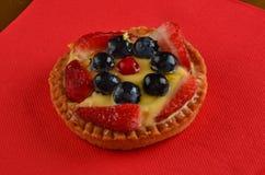 Torta rossa fresca della frutta in primavera immagine stock libera da diritti