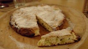 Torta rustica del formaggio Immagini Stock