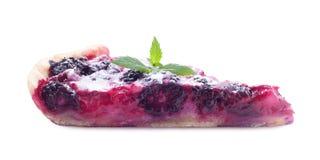 Torta saboroso do fruto no fundo branco fotos de stock