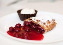 Torta sabrosa de la fruta fotografía de archivo libre de regalías