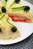 Torta salada de la crepe Imágenes de archivo libres de regalías