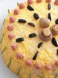 Torta salada de la crepe Fotografía de archivo libre de regalías