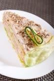 Torta salada de la crepe Fotografía de archivo