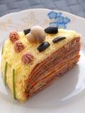 Torta salada de la crepe Imagen de archivo libre de regalías