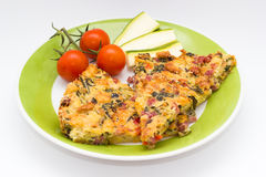 Torta salata Immagine Stock