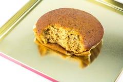 Torta saltada de la taza del plátano Imagen de archivo