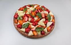 Torta sana della frutta Fotografia Stock