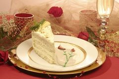 Torta sensual de la amapola del limón Foto de archivo libre de regalías