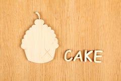 Torta Silueta Fotografía de archivo libre de regalías