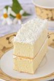 Torta squisita con crema fotografia stock