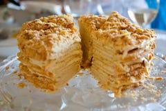 Torta stratificata Fotografie Stock