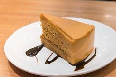 Torta tailandesa del té foto de archivo