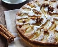 Torta, torta di mele immagini stock libere da diritti