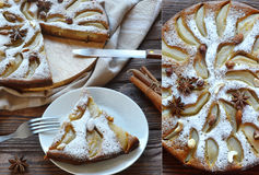Torta, torta di mele Fotografie Stock Libere da Diritti