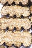 Torta tostada de la almendra Fotos de archivo libres de regalías