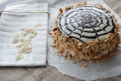 Torta tradicional de Esterhazy del húngaro Imágenes de archivo libres de regalías