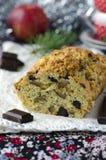 Torta tradicional de la Navidad con las manzanas y chocola Fotografía de archivo