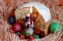 Torta tradizionale di Pasqua Fotografia Stock