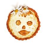 Torta um bolo de queijo do russo com requeijão fotografia de stock royalty free