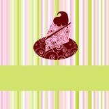 Torta; uso como menú del postre, tarjeta de felicitación y más. Imagenes de archivo