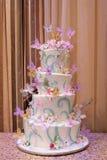 Torta variopinta, Wedding Fotografie Stock Libere da Diritti