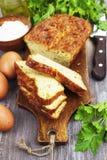 Torta vegetal com queijo e ervas Foto de Stock