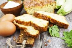 Torta vegetal com queijo e ervas Imagens de Stock