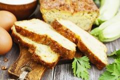 Torta vegetal com queijo e ervas Imagem de Stock