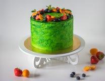 Torta verde brillante Fotografía de archivo