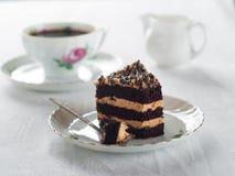 Torta y café Foto de archivo